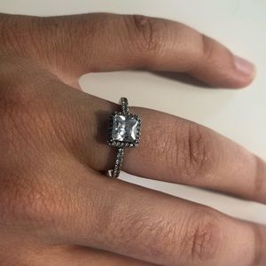 PANDORA Clear Cubic Zirconia Sterling Silver Ring